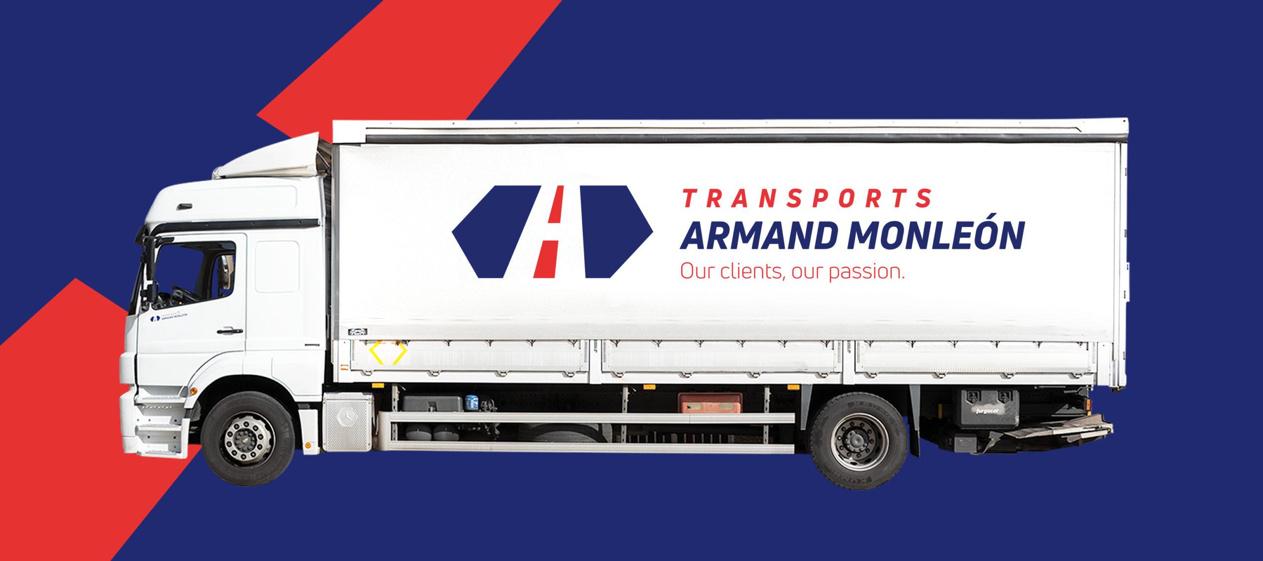 Camió de Transports Armans Monleó