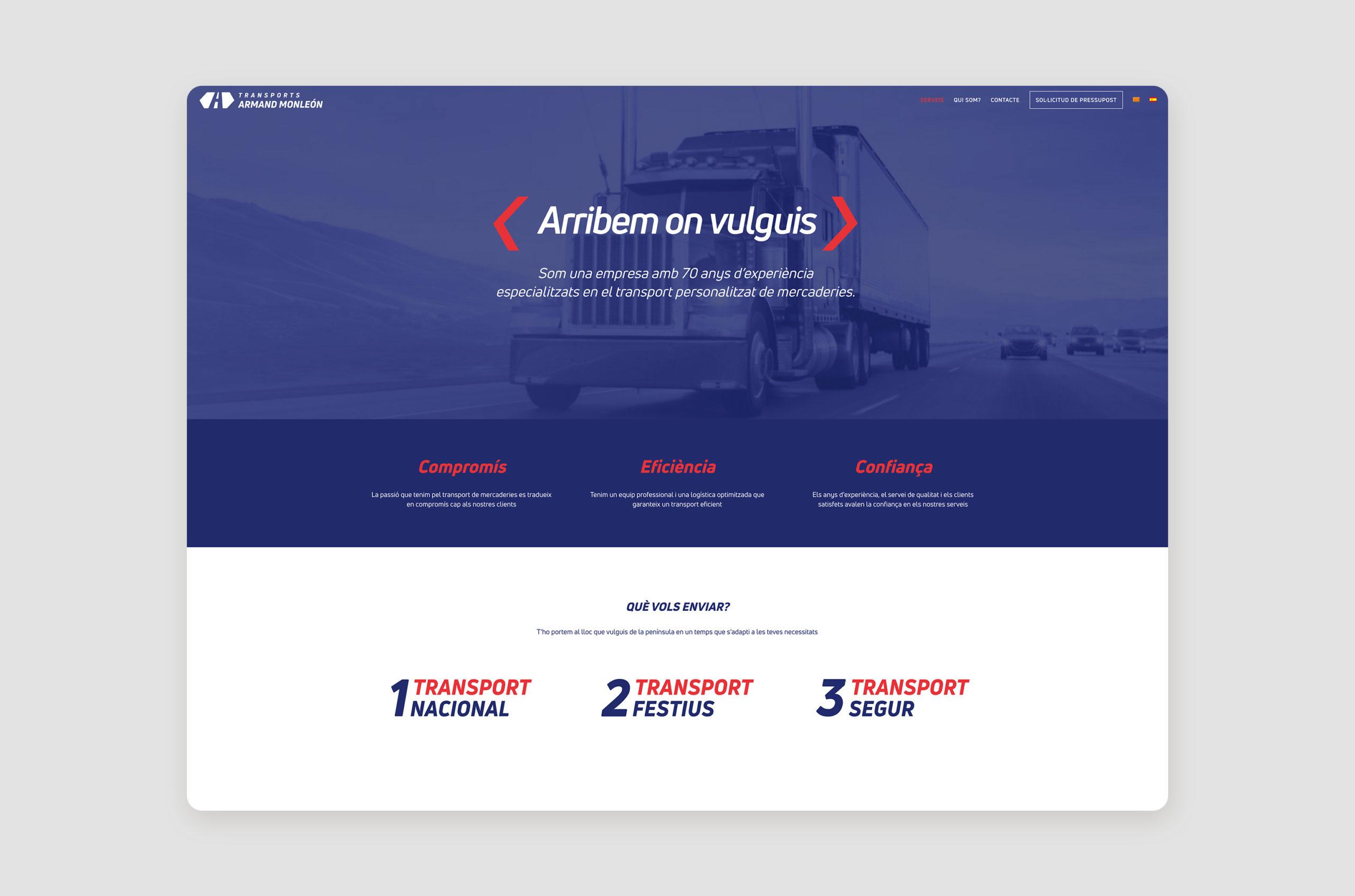 Home web Transports Armand Monleon